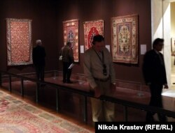 Not surprisingly, there are plenty of sumptuous carpets on display.