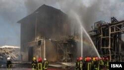 تصویر ایسنا از محل این آتشسوزی