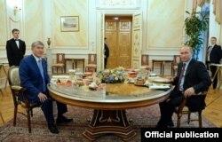 Неформальная встреча президентов Кыргызстана и России.