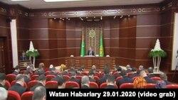 Заседание Конституционной комиссии Туркменистана, Ашхабад, 29 января, 2020.