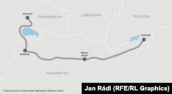 Изначально предложенный маршрут железнодорожного проекта ТАТ