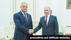Doi prieteni: Igor Dodon și Vladimir Putin