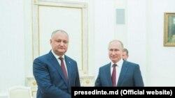 Președintele Republicii Moldova Igor Dodon și omologul său rus Vladimir Putin