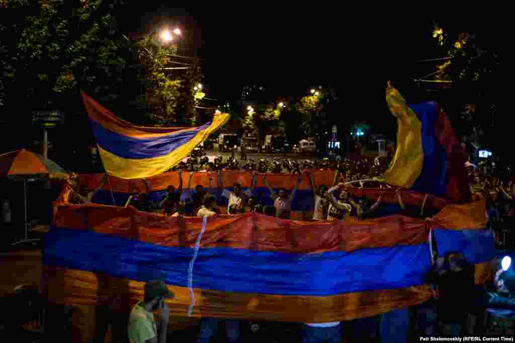 Фото від 26 червня під час протестної акції на проспекті Баграмяна