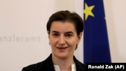 Kryeministrja e Serbisë, Ana Bërnabiq.