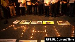 Акция памяти пассажиров рейса MH17