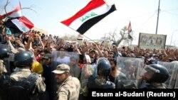 Протест в городе Басра, 15 июля