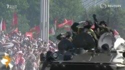 Беларус мустақиллик кунини ҳарбий парад билан нишонлади