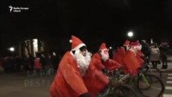 La Tiraspol a avut loc o paradă a Moșilor Crăciun