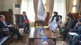 Делегация из Кыргызстана на встрече с первым заместителем главы правительства талибов Абдул Гани Барадаром.
