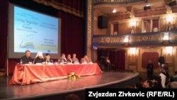 Sa jedne od panel-diskusija u Sarajevu, 10. septembar 2012.