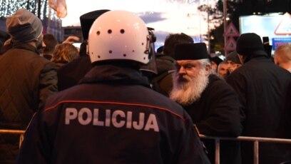 Ispred Skupštine Crne Gore u Podgorici: 27. decembar 2019.