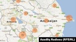 Azərbaycan xəritəsi