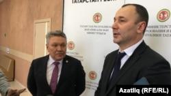 Министр образования и науки Татарстана Рафис Бурганов (слева) и Анзор Музаев