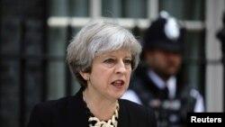 Premierul britanicTheresa May , Londra, 4 iunie 2017