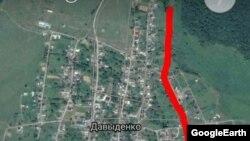 карта села Давыденко