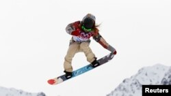 Олимпийская чемпионка Сочи Джейми Андерсон из США