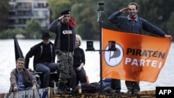 Активисты германской Пиратской партии.