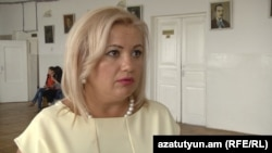 Переизбранный директор школы № 27 Сусанна Саргсян, 26 августа 2015 г.