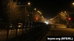 Вечерний Симферополь в день запуска второго энергомоста