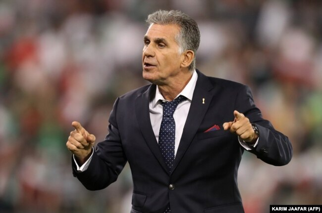 """The team's veteran Portuguese coach, Carlos Queiroz, has vowed that Iran will """"not go to Russia as tourists."""""""