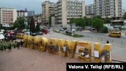 Spomenik u Prištini postavljen povodom proglašenja nezavisnosti