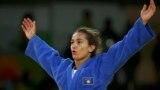 2016 Rio Olympics - Judo - Final - Women -52 kg Final - Gold Medal Contest - Carioca Arena 2 - Rio de Janeiro, Brazil - 07/08/2016. Majlinda Kelmendi (KOS) of Kosovo celebrates.