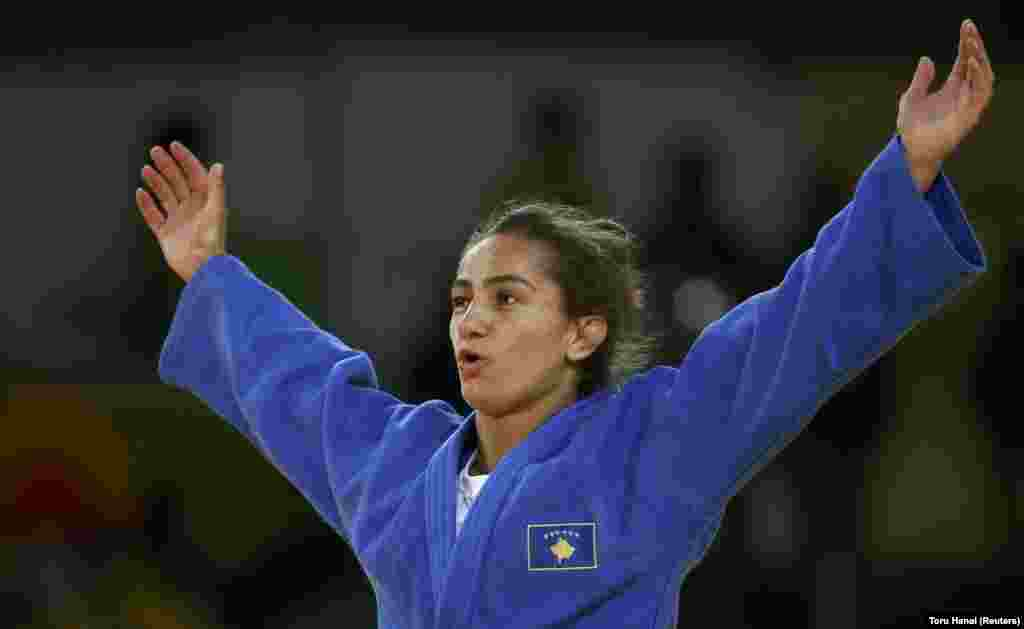 People rejoiced in the new country of Kosovo -- independent only since 2008 -- when Majlinda Kelmendi won the nation's first medal ever, getting a gold in judo.