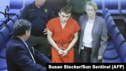Nikolas Cruz na sudu u Floridi 16. februara 2018.