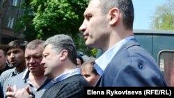 Петр Порошенко и Виталий Кличко в Одессе 3 мая 2014 г.
