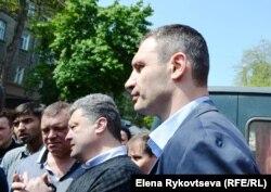 Vitaly Klitschko və Petr Poroshenko