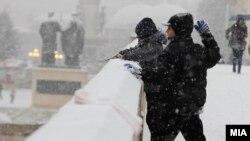 Skoplјe pod snijegom