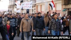 متظاهرون في الموصل