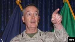 "U.S. General Joseph Dunford says allies and Afghan forces to ""crank up the heat"" against Haqqani militants."