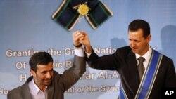 محمود احمدینژاد در کنار بشار اسد
