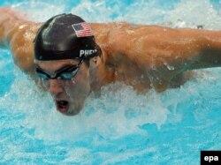 Америкалық спортшы Майкл Фелпс. Пекин олимпиадасы, 13 тамыз 2008 жыл.