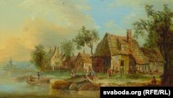 Хрысьціян Георг Шуц ІІ, «Вёска над рэчкай» (1791)