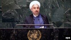 Իրանի նախագահ Հասան Ռոհանին ելույթ է ունենում ՄԱԿ-ի Գլխավոր ասամբլեայի նստաշրջանում, 25-ը սեպտեմբերի, 2014թ․