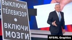 Дмитрий Киселев и плакат с протестных митингов. Коллаж