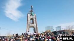 راهپیمایی مردم در ولایت پکتیا