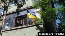 Чарнігаўцы вывесілі нацыянальныя сьцягі на балконах і ў вокнах сваіх кватэраў