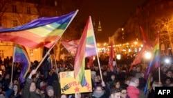 Protest protiv nasilja nad LGBT osobama u Zagrebu