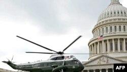 هلیکوپتر رئیس جمهوری آمریکا در واشینگتن