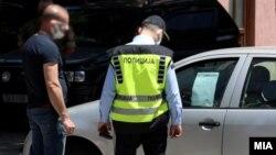 Архивска фотографија, полициски час во Скопје, 7 јуни 2020