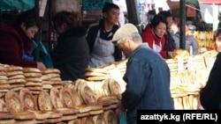 Ошский рынок в Бишкеке. Иллюстративное фото.