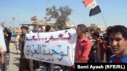 من مظاهرات بعقوبة في 25 شباط