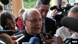 Кубадағы католик шіркеуінің басшысы, архиепископ Хайме Ортега, Гавана, 8 шілде 2010 ж.