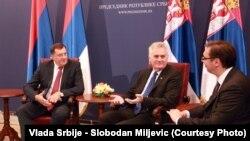 Dodik prilikom prošle posjete Beogradu, u septembru uoči referenduma.