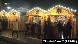 Новогодний базар в центре Душанбе