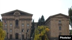 Armenia -- The parliament building in Yerevan.